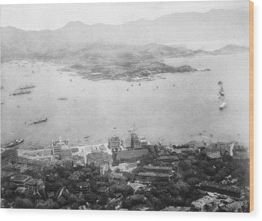 Hong Kong Wood Print by Hulton Archive