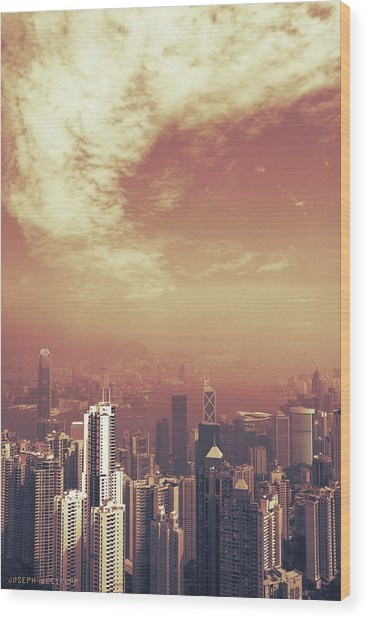 Hong Kong Portrait Wood Print