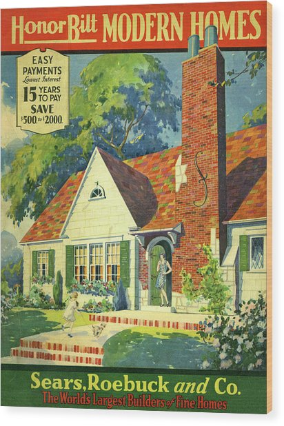 Honor Bilt Modern Homes Sears Roebuck And Co 1930 Wood Print