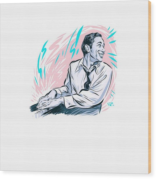 Horace Silver - An Illustration By Paul Cemmick Wood Print