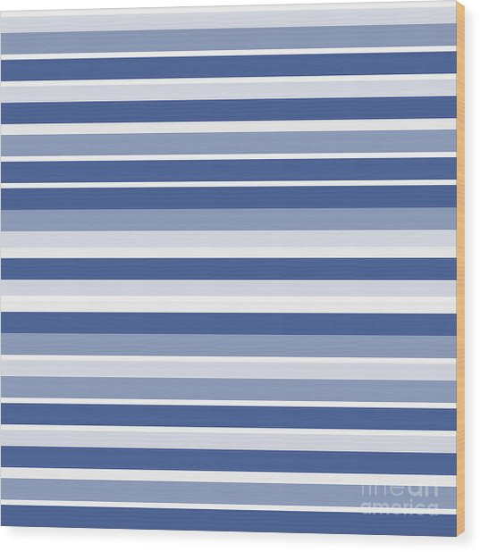 Horizontal Lines Background - Dde607 Wood Print