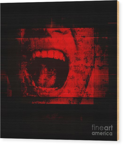Horror Background For Movies Poster Wood Print