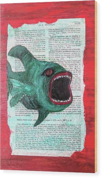 Horror  Wood Print
