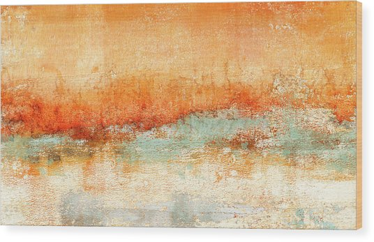 Hot Days Cool Waters Wood Print
