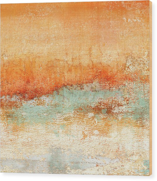 Hot Days Cool Waters Square Format Wood Print