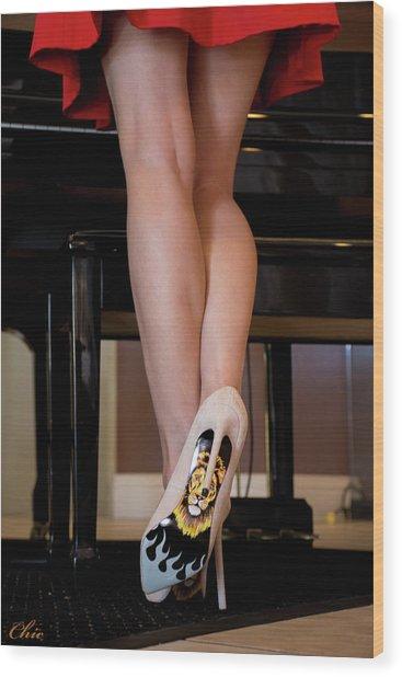 Hot Legs Wood Print