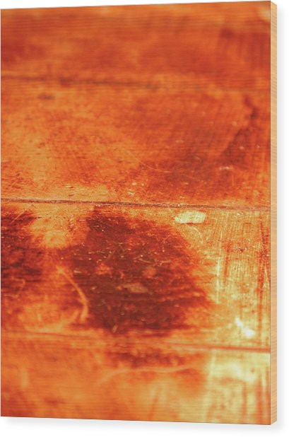 Hot Wooden Background Wood Print