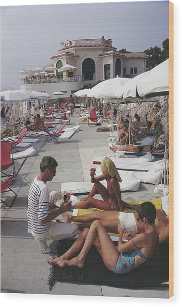 Hotel Du Cap Wood Print by Slim Aarons