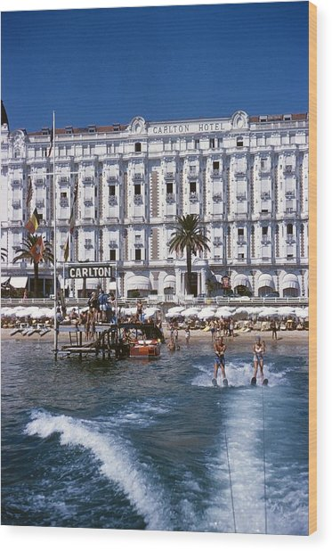 Hotel Sports Wood Print by Slim Aarons