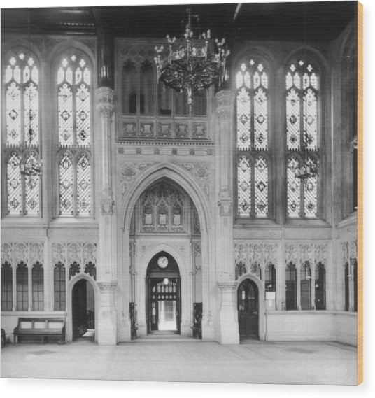 House Of Commons Wood Print by London Stereoscopic Company
