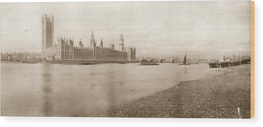 Houses Of Parliament Wood Print by Hulton Archive