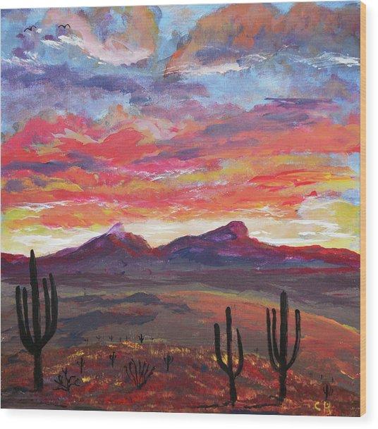 How I See Arizona Wood Print