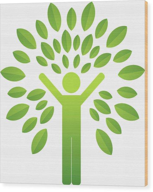 Human Tree Wood Print by Lvcandy