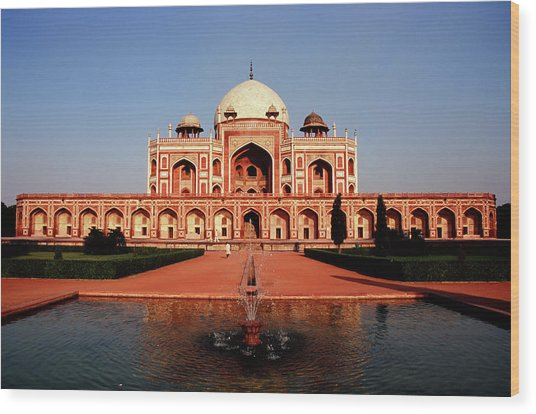Humayuns Tomb, Delhi Wood Print by Kelly Cheng Travel Photography