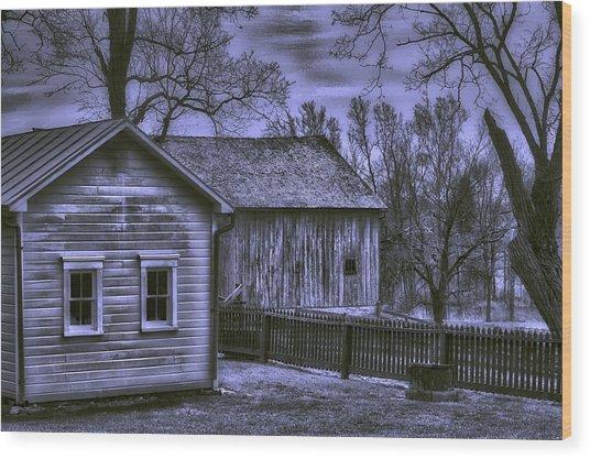 Humble Homestead Wood Print