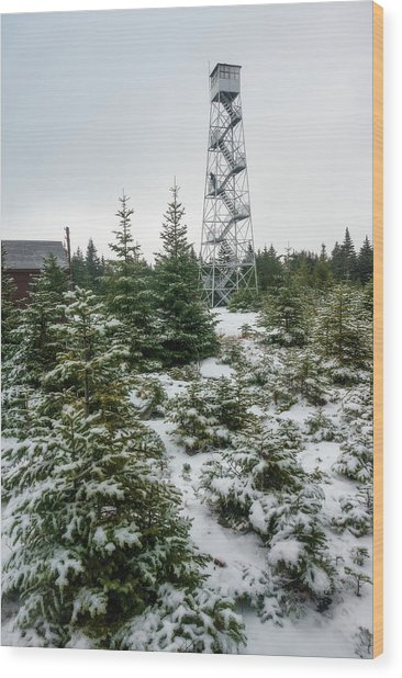 Hunter Mountain Fire Tower Wood Print