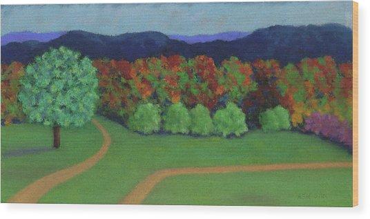Hutchins Farm In Fall Wood Print