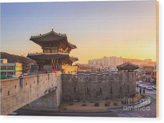 Hwaseong Fortress, Traditional Wood Print