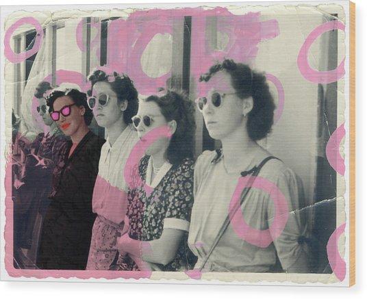 I Believe In Pink Wood Print