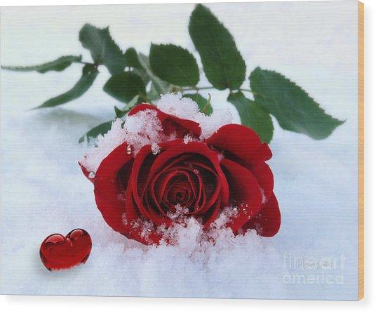 I Give You My Heart Wood Print