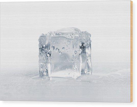 Ice Cubes Wood Print by Sbayram