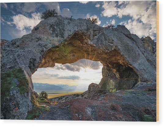 Wood Print featuring the photograph Idaho Natural Arch by Leland D Howard