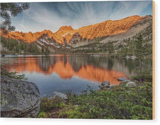 Idaho Wilderness Wood Print by Leland D Howard