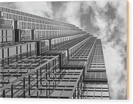 Ids Center, Minneapolis, Monochrome Wood Print by Jim Hughes