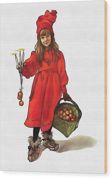 Iduna And Her Magic Apples Wood Print