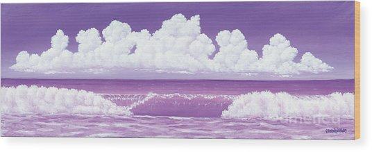 If The Sky Was Purple Wood Print