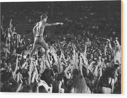 Iggy Pop Live Wood Print