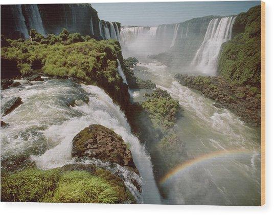 Iguazu Falls Wood Print by Harald Sund