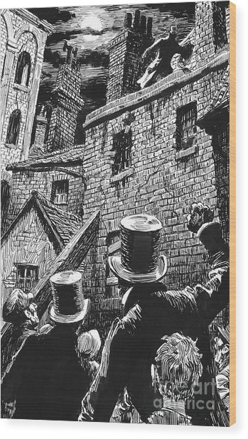 Illustration For Oliver Twist By Charles Dickens  Wood Print