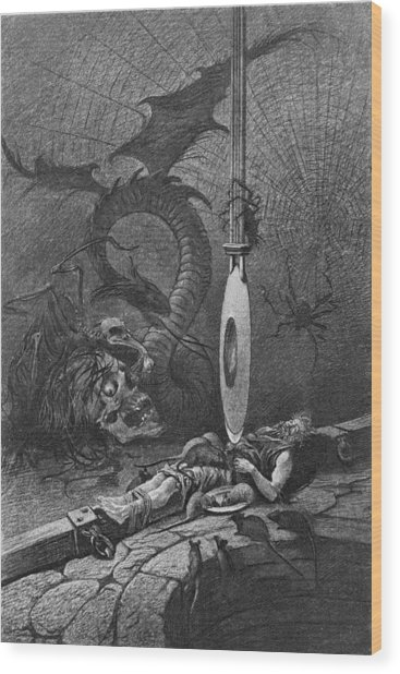 Illustration For Poes The Pit And The Wood Print by Kean Collection