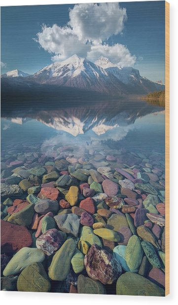 Immaculate Reflection / Lake Mcdonald, Glacier National Park  Wood Print
