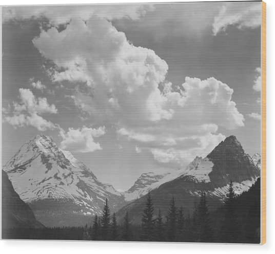 In Glacier National Park Wood Print by Buyenlarge