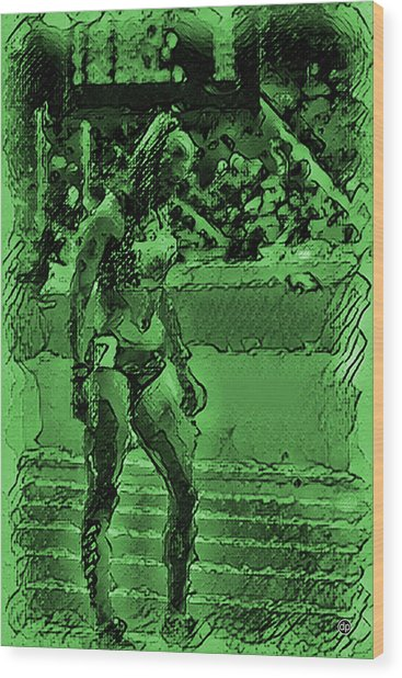 In The Green Zone Wood Print