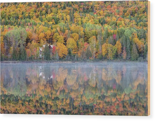 Wood Print featuring the photograph In The Heart Of Autumn by Pierre Leclerc Photography