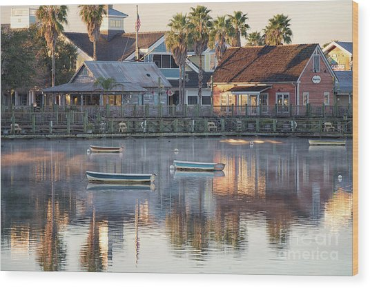 In The Stillness Of The Morn Fine Art Photography By Mary Lou Chmura Wood Print