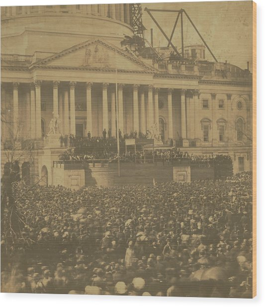Inauguration Of Abraham Lincoln, March 4, 1861 Wood Print