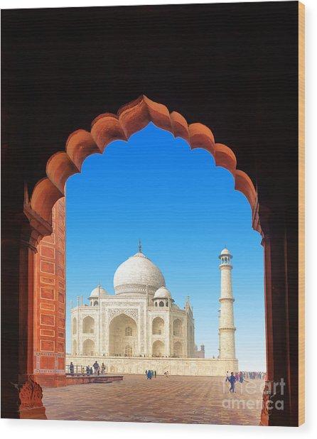 India Taj Mahal. Indian Palace Tajmahal Wood Print