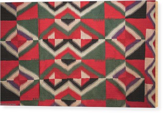 Indian Blanket Wood Print