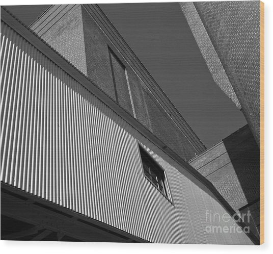 Wood Print featuring the photograph Industrial Abstract by Patrick M Lynch