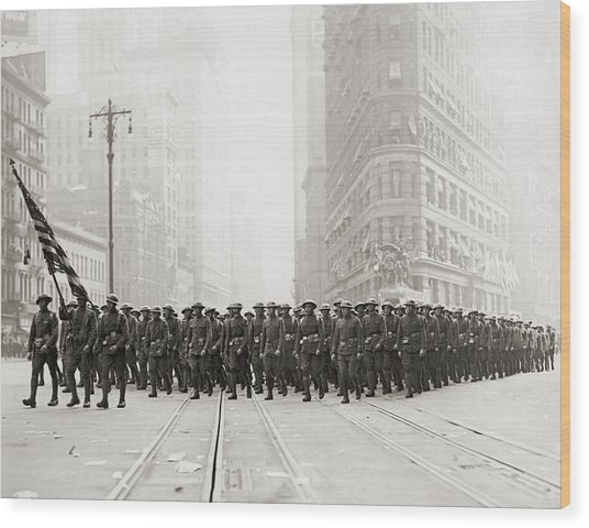 Infantry Parade Wood Print by Fpg