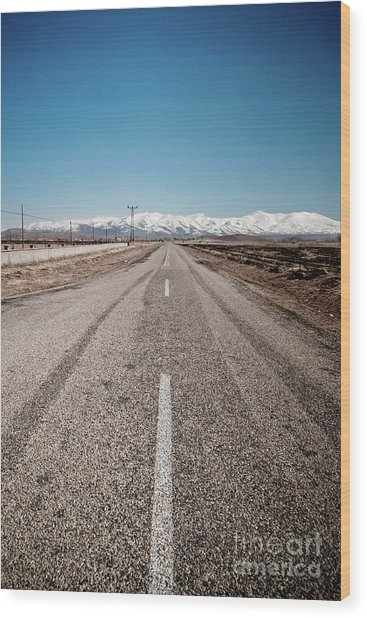 infinit road in Turkish landscapes Wood Print