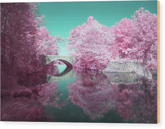 Infrared Bridge Wood Print