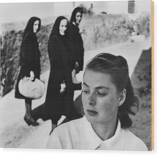 Ingrid Bergman In Italy For Stromboli Wood Print by Gordon Parks