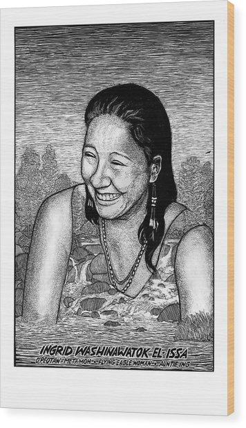 Ingrid Washinawatok El-issa Wood Print by Ricardo Levins Morales