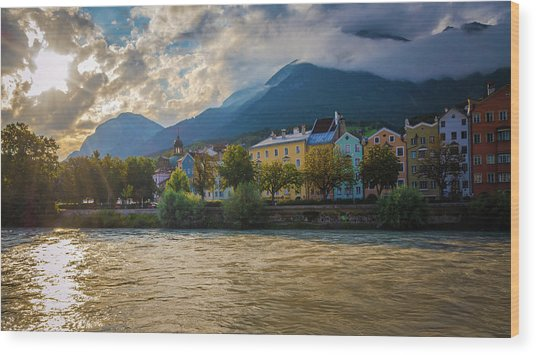 Inn River Wood Print