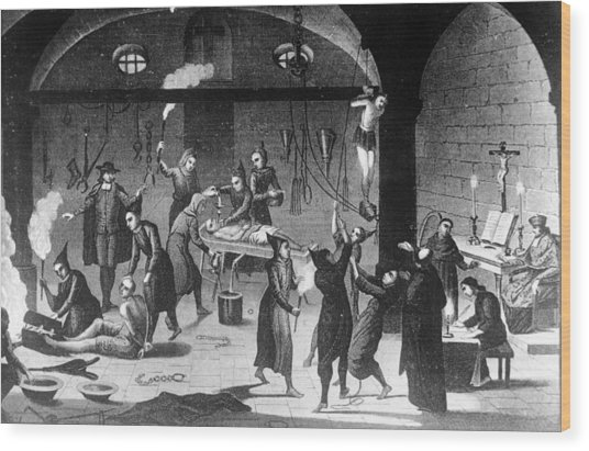 Inquisition Tortures Wood Print by Three Lions